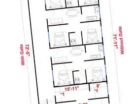 #18 za Architectural design for an area of 72x33 feet od rhshuvo6