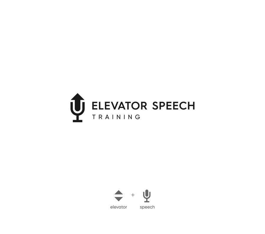 """Inscrição nº 120 do Concurso para logo for """"elevator speech training"""""""