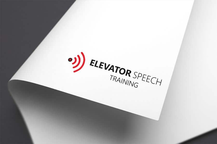 "Inscrição nº 178 do Concurso para logo for ""elevator speech training"""
