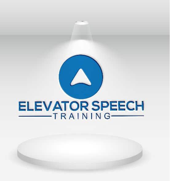 """Inscrição nº 92 do Concurso para logo for """"elevator speech training"""""""
