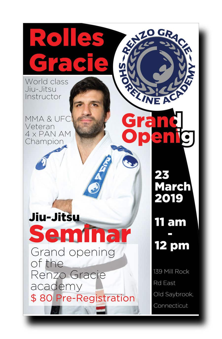 Proposition n°4 du concours I need a poster to post on social media to advertise the grand opening/seminar at my martial arts academy