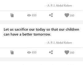 #27 for UI for a Quote App av BhavinJadav