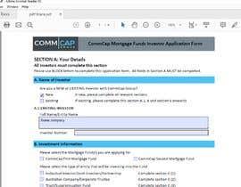 #8 pёr Design editable PDF Application Form nga ginpasawa