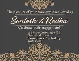 #18 pёr Design an Engagement Card nga bhumishah312