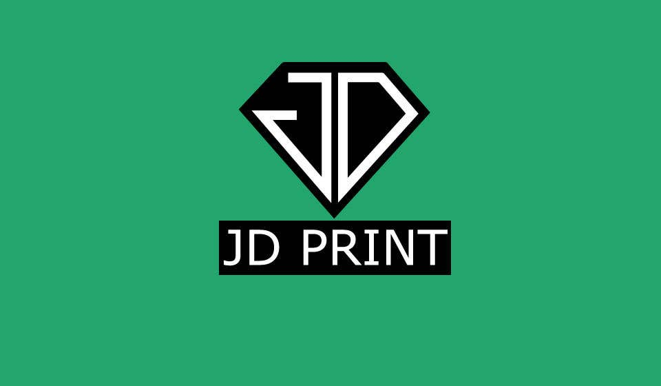 Konkurrenceindlæg #8 for Needing a logo designed with the wording: JD Print. Preferably with the JD in the shape of a diamond