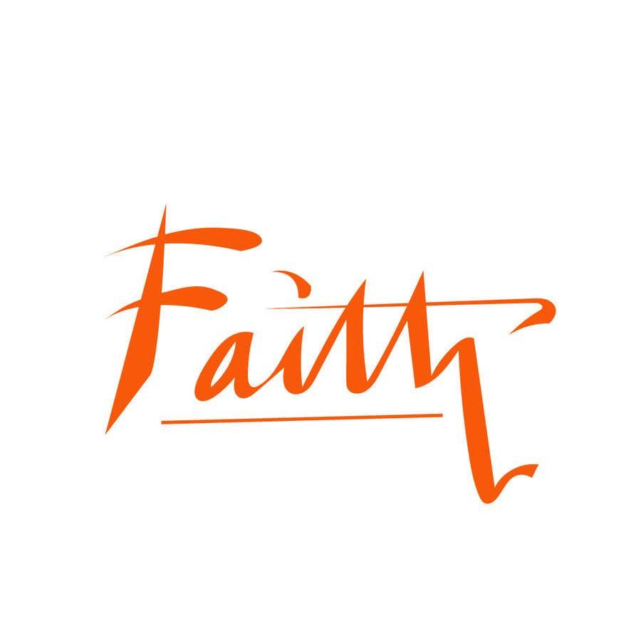 Proposition n°12 du concours Digitize and improve a hand drawn text logo - Faith