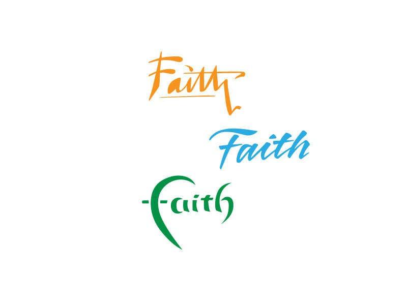 Proposition n°18 du concours Digitize and improve a hand drawn text logo - Faith