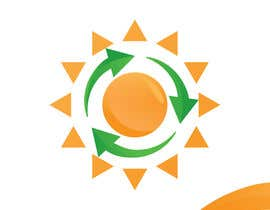 #15 za Design a logo for a sustainability business. No business name in the logo. It should have 3 green arrows around a yellow conceptualised flaring sun. The sun flare should be in the centre and the flares emerge from behind the green arrows. od SaryNass