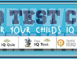 WendyRV tarafından Banner Ad Design for Kids IQ Test Center - Winner Gets $100 için no 49