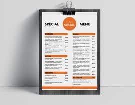Nro 40 kilpailuun Design/Create funky food menu for bar/restaurant in MS Word käyttäjältä thtoufiq