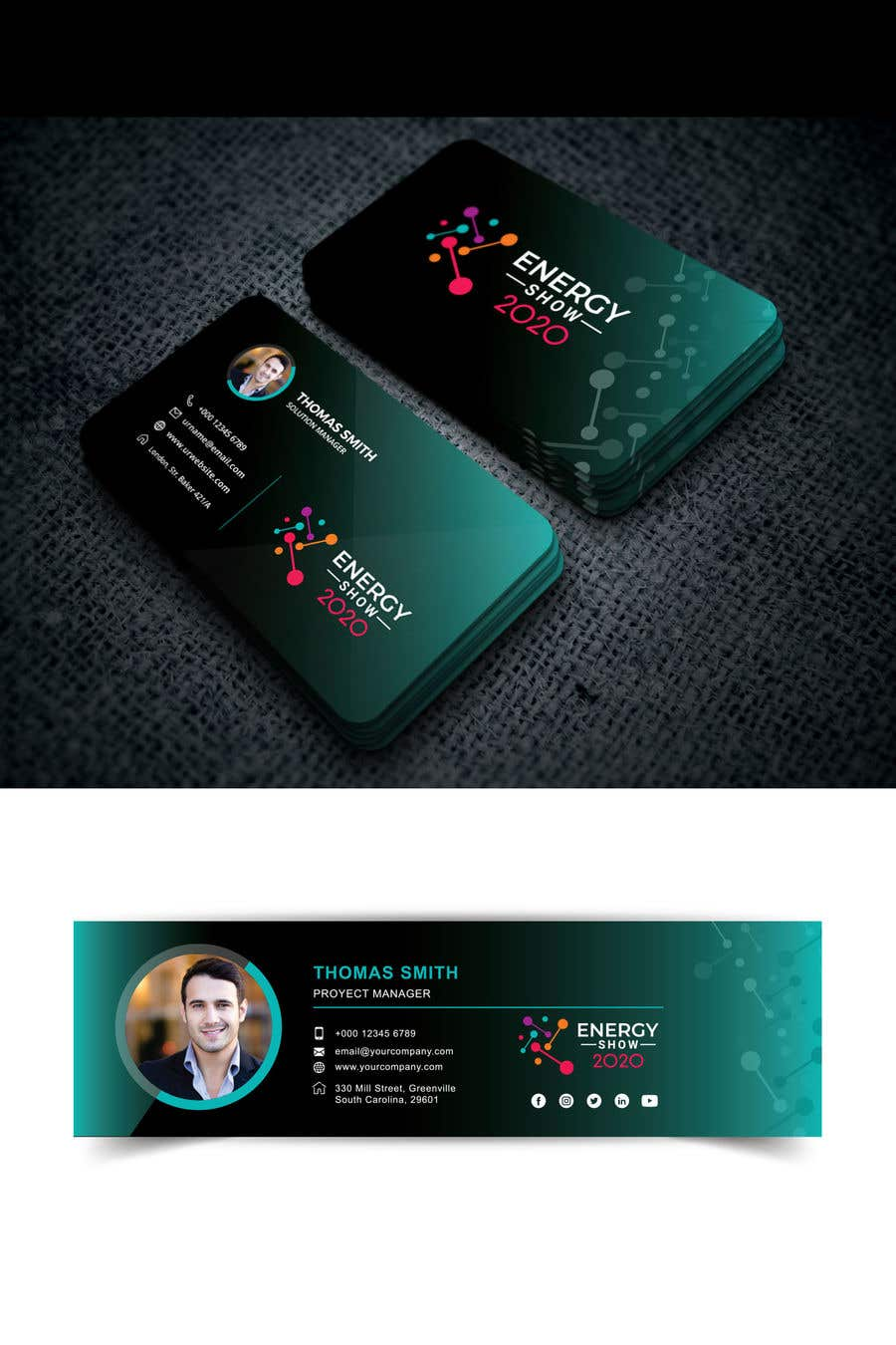Contest Entry #536 for Business card and e-mail signature template.