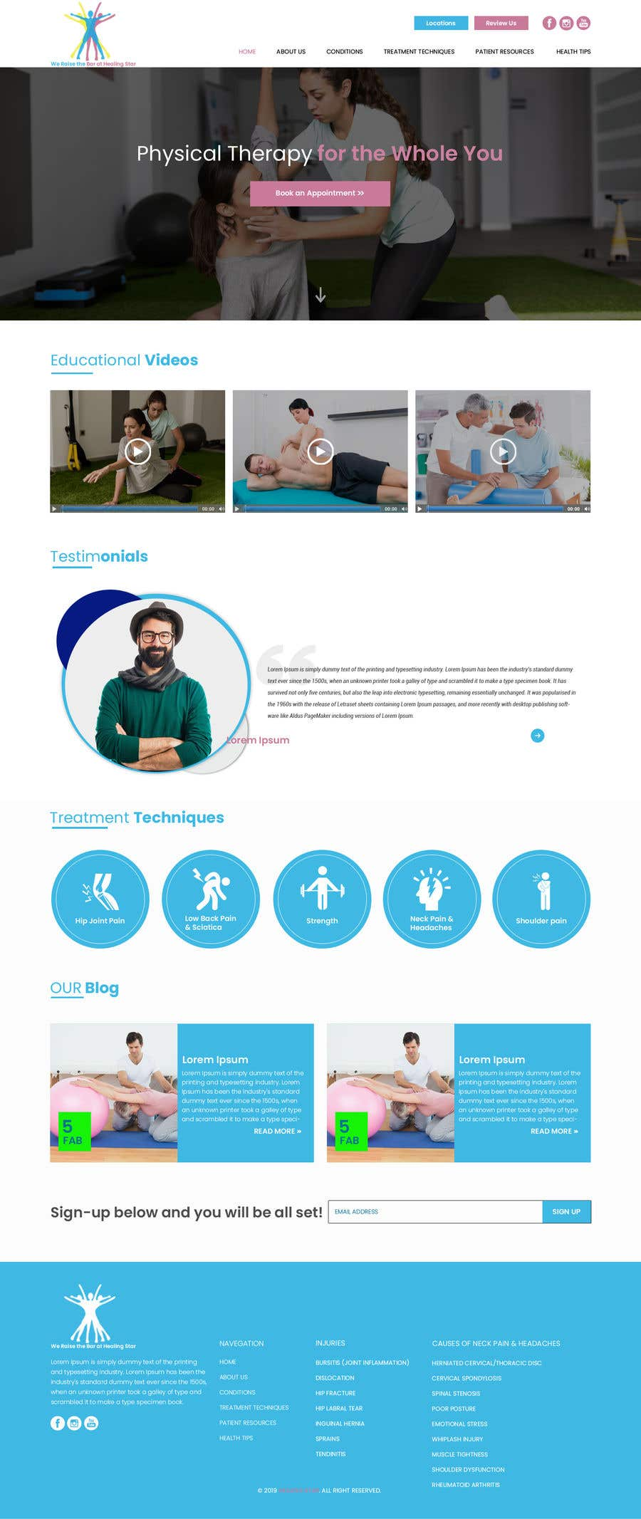 Penyertaan Peraduan #14 untuk Need PSD for physical therapy website home page
