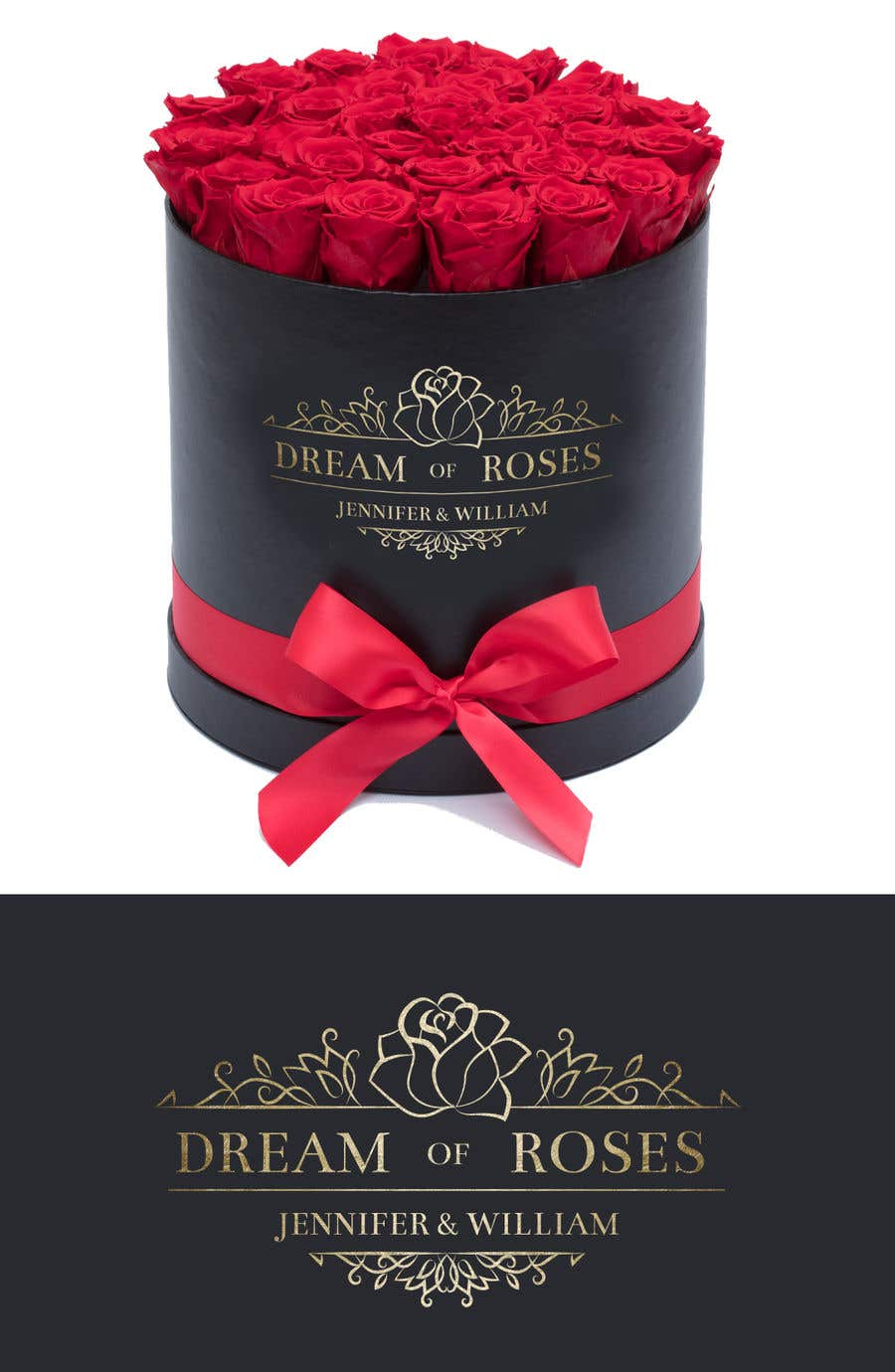 """Intrarea #72 pentru concursul """"Find a name and make the logo for a roseluxe brand (flowers gifts, wedding, etc.)"""""""