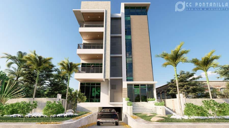 Bài tham dự cuộc thi #65 cho Improve 3D Building Exterior - Paint, Windows, Balcony, Entrance, Garden