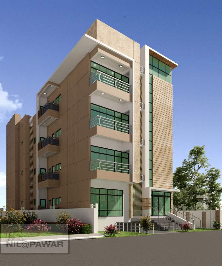 Bài tham dự cuộc thi #63 cho Improve 3D Building Exterior - Paint, Windows, Balcony, Entrance, Garden
