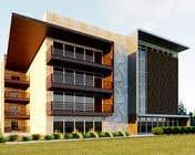 Building Architecture Kilpailutyö #124 kilpailuun Improve 3D Building Exterior - Paint, Windows, Balcony, Entrance, Garden
