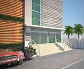 3D Rendering Kilpailutyö #29 kilpailuun Improve 3D Building Exterior - Paint, Windows, Balcony, Entrance, Garden