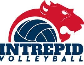 """#2 for Simple and classic volleyball logo for the company name """"Intrepid Volleyball"""" (intrepid means fearless). This must be easily made into shirts and stickers for the business. by guessasb"""