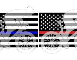 #6 untuk I need some graphic design, Blue Like Flag with a cyclist and Red Line Flag with a cyclist. oleh DEVANGEL1