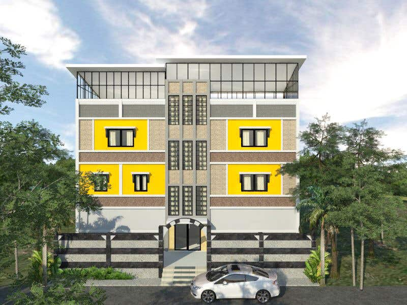 Proposition n°5 du concours 3D modeling/rendering of building facade by using 3ds Max to create new color design scheme