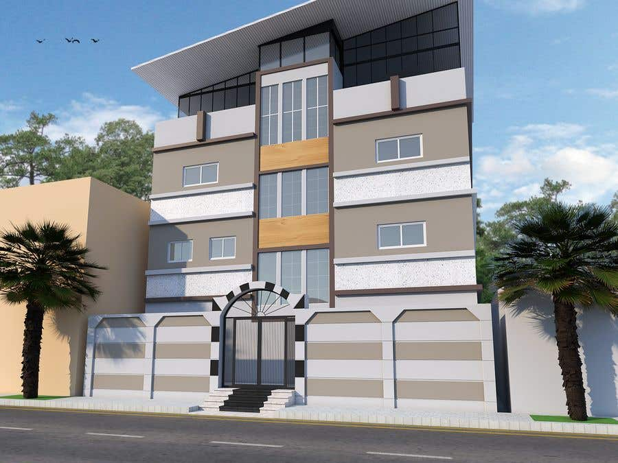 Proposition n°6 du concours 3D modeling/rendering of building facade by using 3ds Max to create new color design scheme