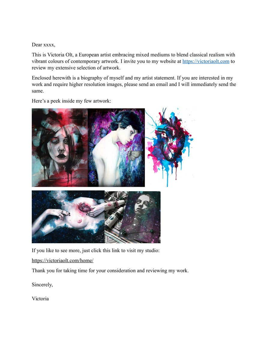Entry #3 by calcuttans for Send emails to art magazines | Freelancer