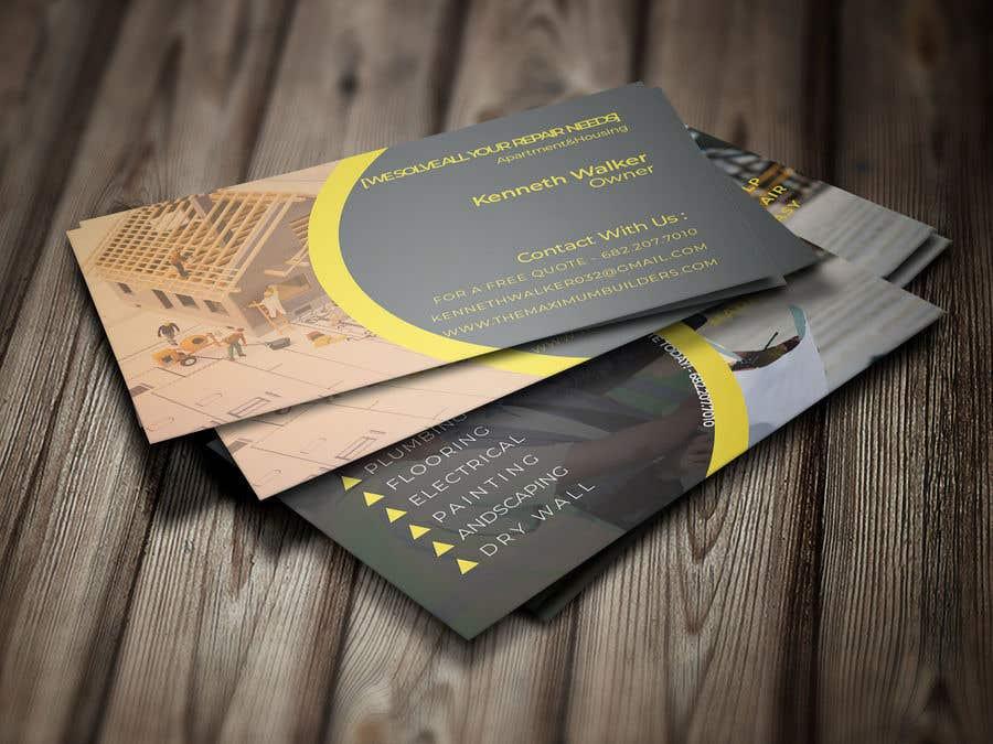 Kilpailutyö #23 kilpailussa design double sided business cards - construction
