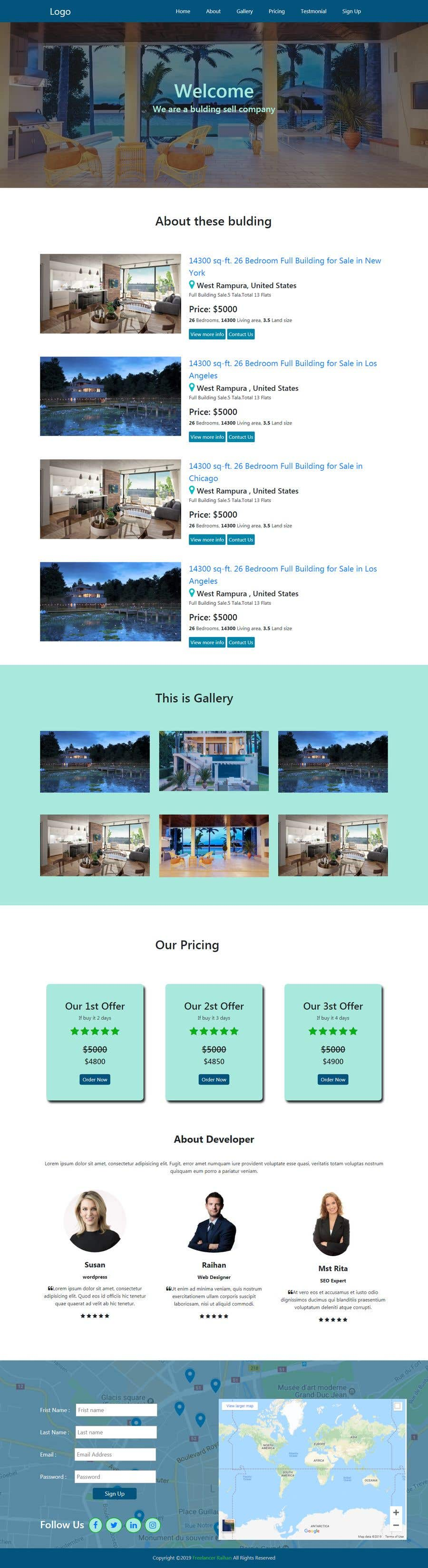 Penyertaan Peraduan #17 untuk Website Design & Layout - 2 Page Design