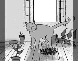 #9 for Illustrate a Cat and Plants on Bottom af taqdees
