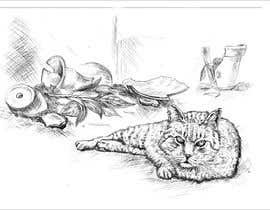 #17 for Illustrate a Cat and Plants on Bottom af djamolidin