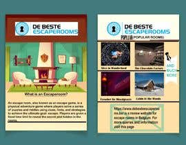 #30 for Design A6 flyer for an escape room review website by Nurainaly