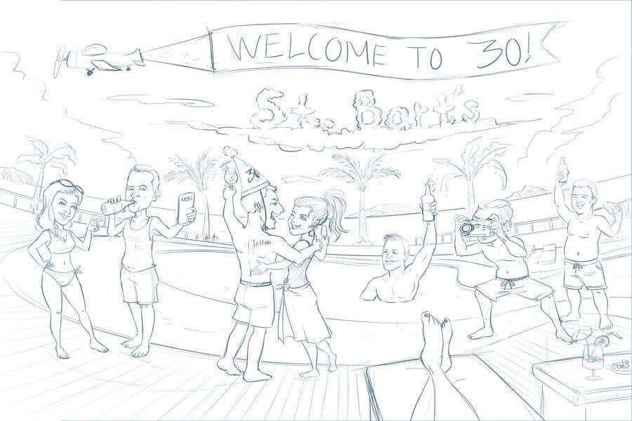 Konkurrenceindlæg #34 for Cartoon Birthday Design