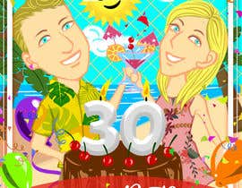 #44 for Cartoon Birthday Design af EverlostJackie