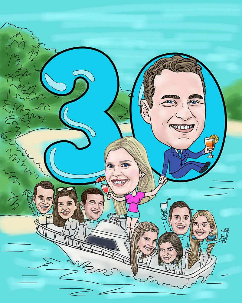 Konkurrenceindlæg #45 for Cartoon Birthday Design