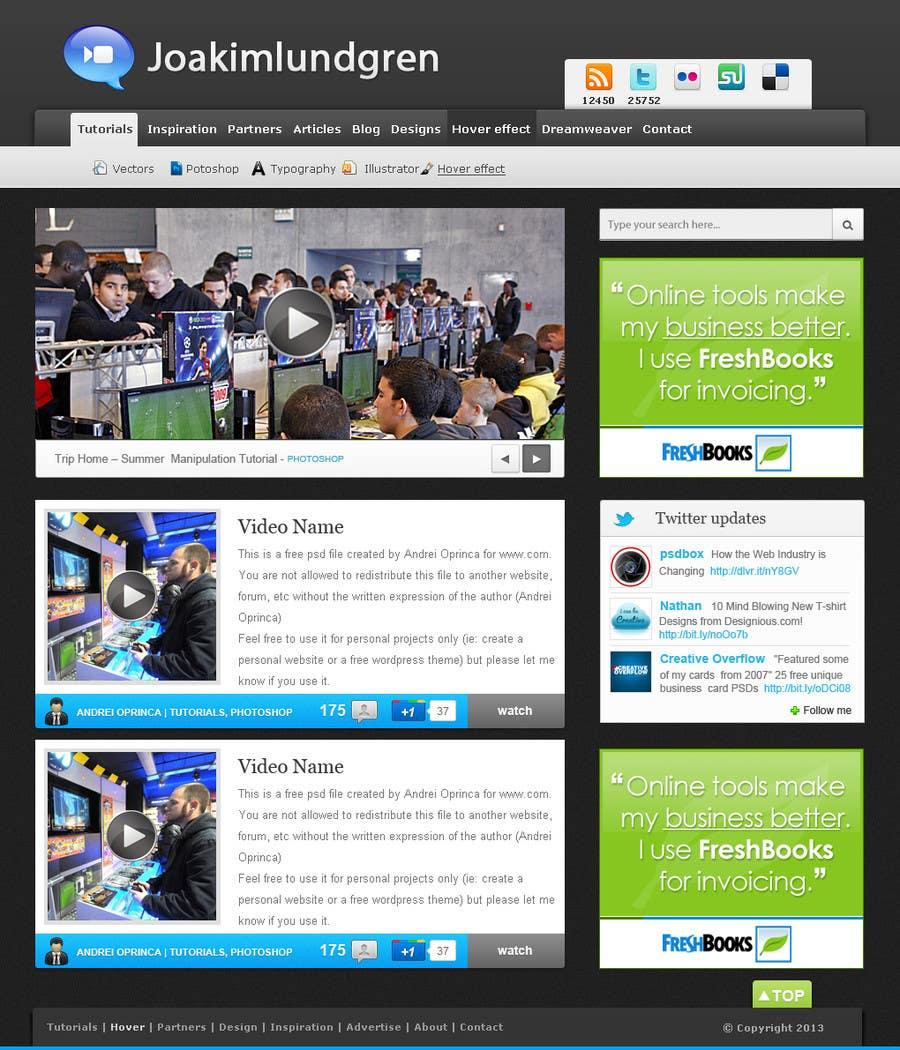 Kilpailutyö #4 kilpailussa Website design! (Video download site)