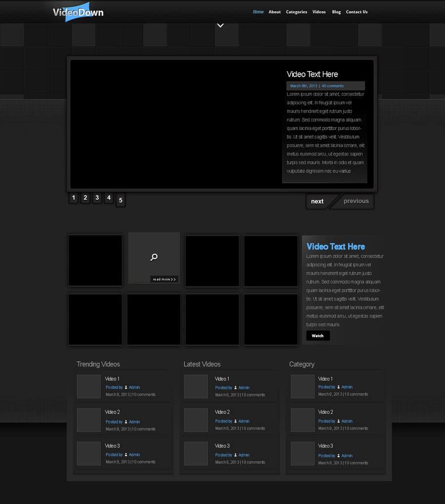 Конкурсная заявка №2 для Website design! (Video download site)