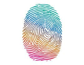 #37 untuk I want you to add the shape of coffee bean to the original fingerprint photo.. so I expect a curved line in the middle of the fingerprint . Please keep the multicolors as it is oleh shifatabir