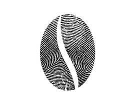 #43 untuk I want you to add the shape of coffee bean to the original fingerprint photo.. so I expect a curved line in the middle of the fingerprint . Please keep the multicolors as it is oleh GraphicEra99