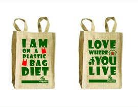 Nro 9 kilpailuun Two Hemp Shopping Bag Designs käyttäjältä studiodecor