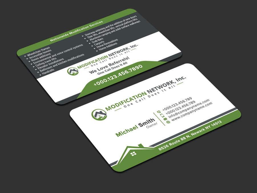 Konkurrenceindlæg #133 for Business card for a handicap home modification construction company