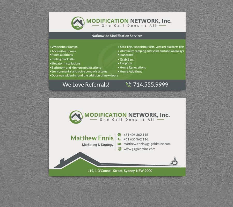 Konkurrenceindlæg #111 for Business card for a handicap home modification construction company
