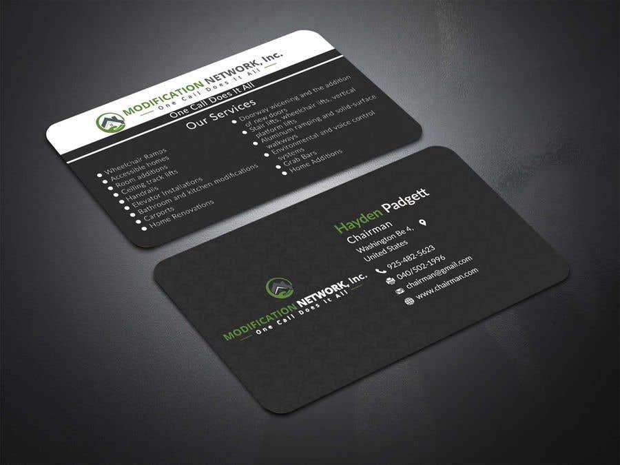 Konkurrenceindlæg #30 for Business card for a handicap home modification construction company