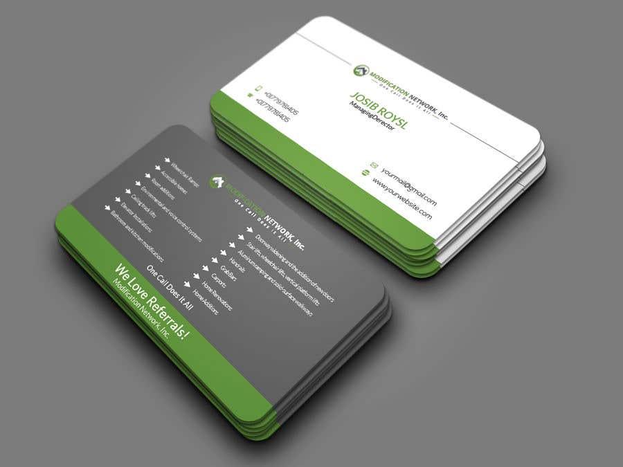 Konkurrenceindlæg #104 for Business card for a handicap home modification construction company