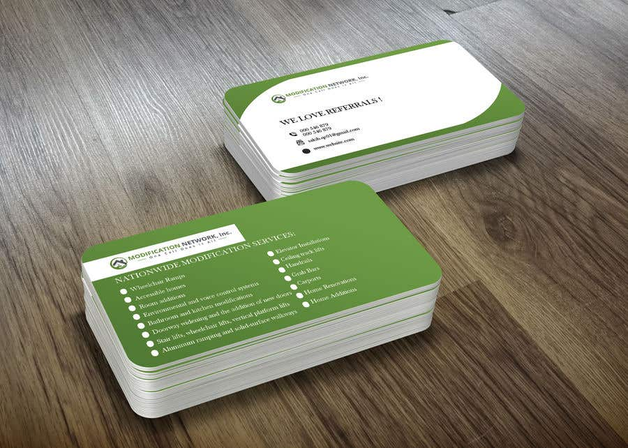 Konkurrenceindlæg #120 for Business card for a handicap home modification construction company