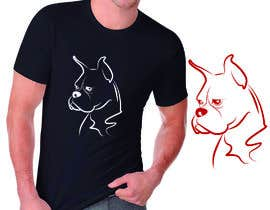 #124 pentru I need a logo/drawing of a boxer dog, mainly to print on clothing and merchandise. See description in post. de către olgarguello85