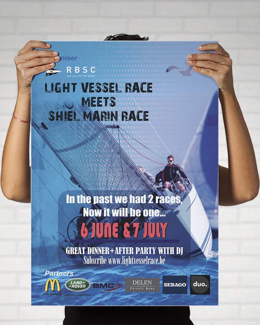 Kilpailutyö #20 kilpailussa Create a boat race poster