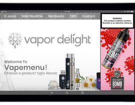 #53 для Vapemenu Tablet App Redesign Contest от doomshellsl