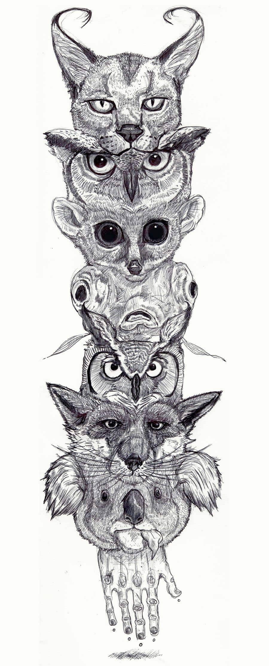 Contest Entry #18 for I need an artist to draw tattoo sleeves of animals.