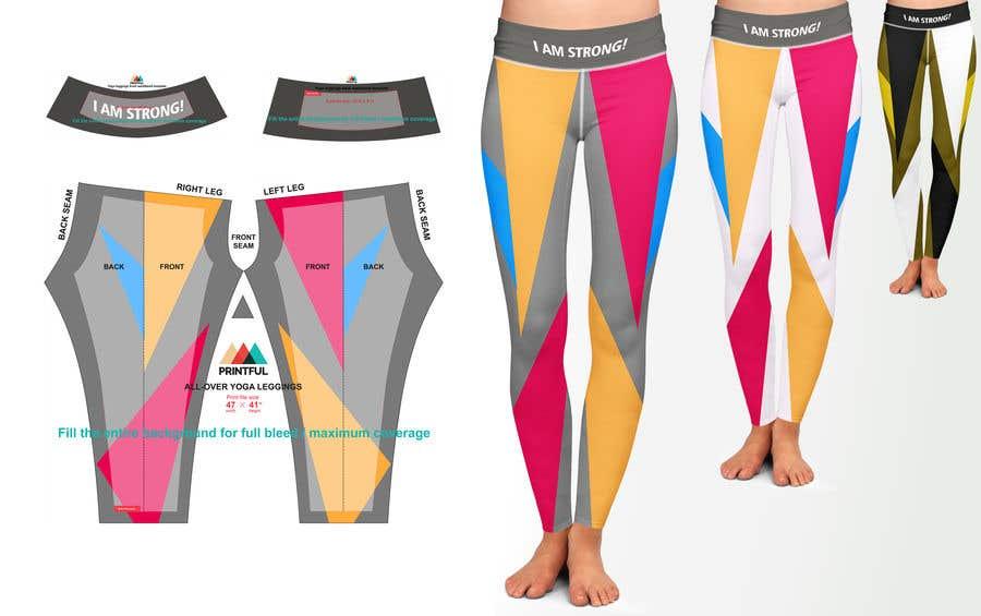 Конкурсная заявка №331 для Design futuristic leggings for sublimation print