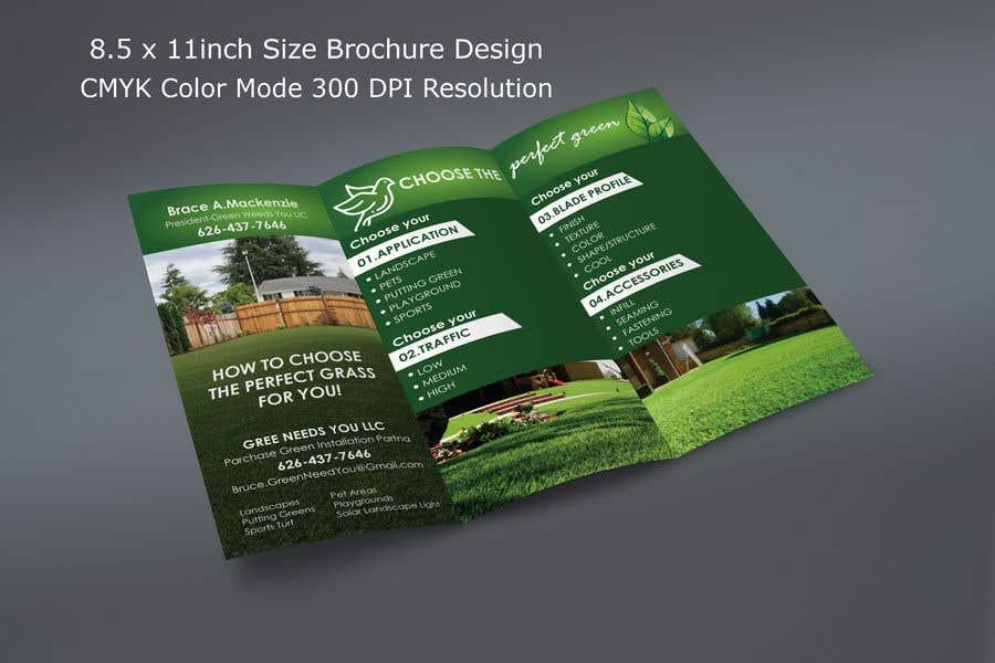 Kilpailutyö #6 kilpailussa Needs a brochure for a fake grass company